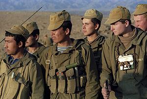 Russian Spetsnaz Soldiers on the border between Afghanistan and Pakistan in 1988