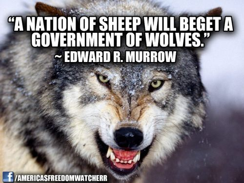 Those who act like sheep will be ruled by wolves.
